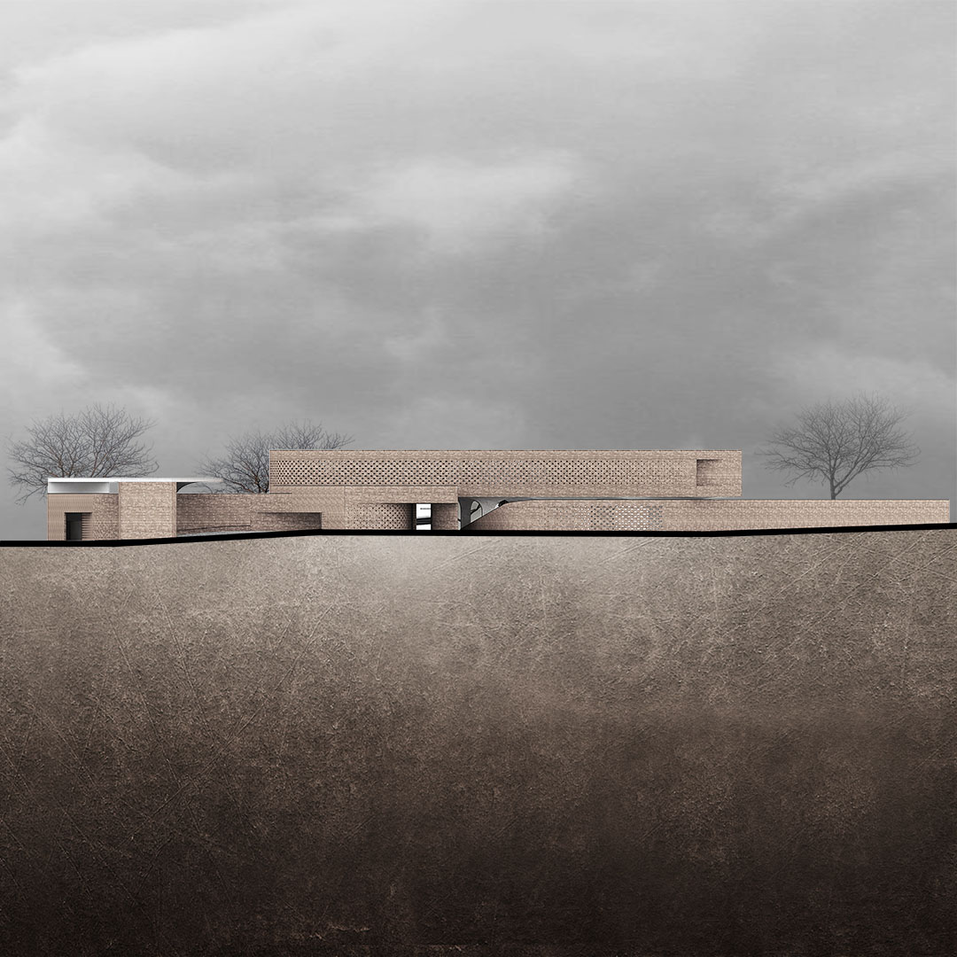 Professor Hesabi Tomb and Cultural center- Drawing- Elevation